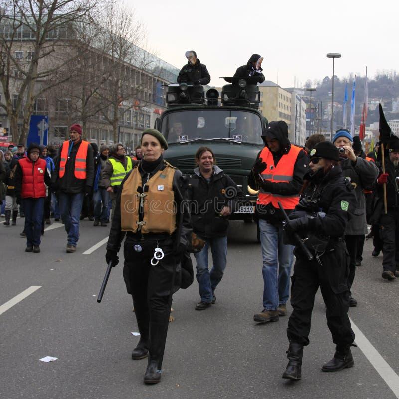 21 демонстрация stuttgart стоковое изображение rf
