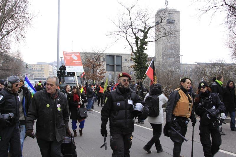 21 демонстрация stuttgart стоковые фото