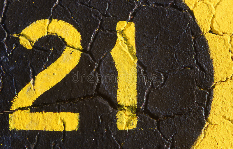 Download 21 stock photo. Image of digit, pavement, digits, legal, black - 948