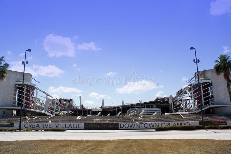 21 areny amway rozbiórka Orlando zdjęcia stock