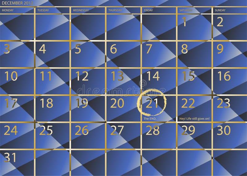 21 de diciembre de 2012 - el único mes que importa. stock de ilustración