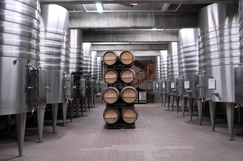 加利福尼亚州的地窖酒 免版税库存照片