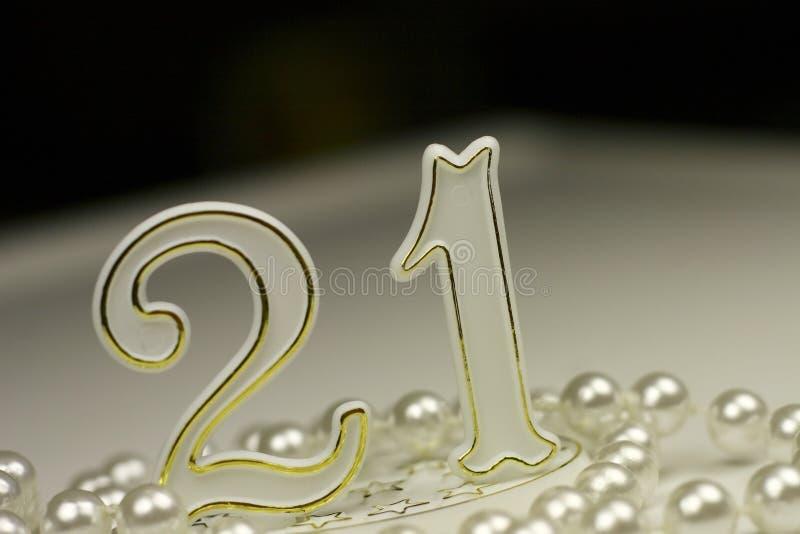 21st знак дня рождения стоковая фотография rf