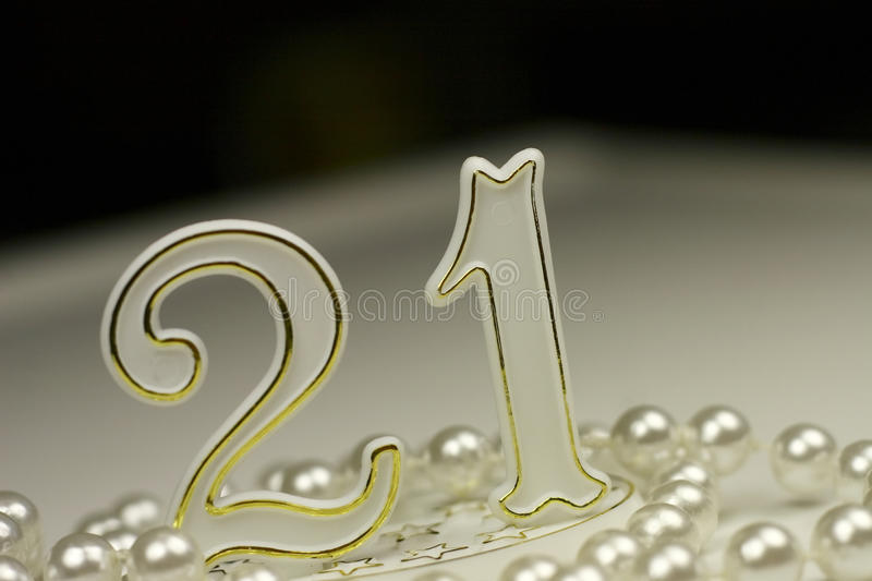 21st Birthday sign royalty free stock photography