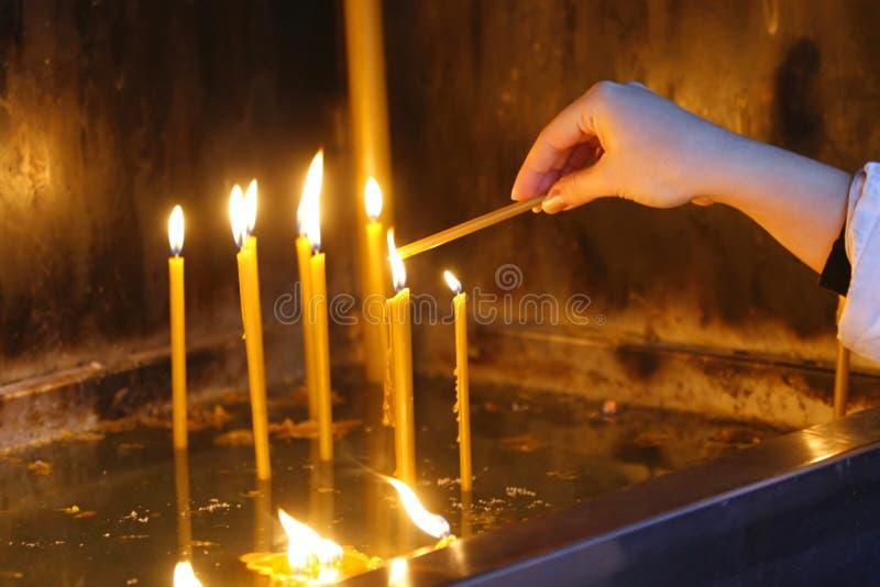 22 κεριά στοκ εικόνα