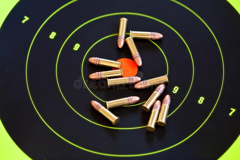 .22 LR caliber ammo royalty free stock image