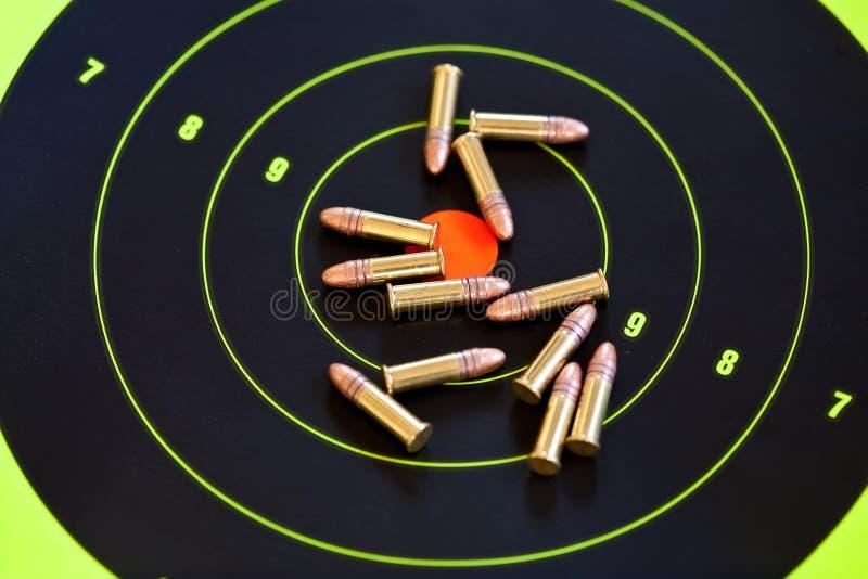 .22 LR-Kalibermunition lizenzfreies stockbild