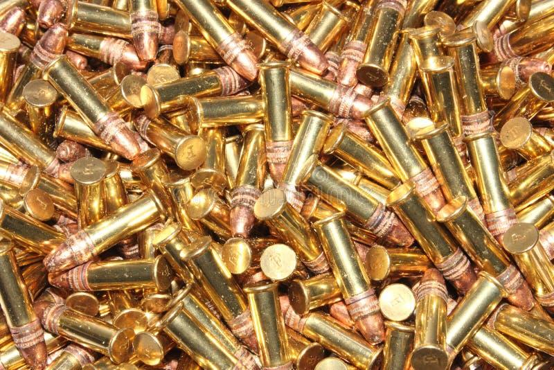 22 pocisków kaliberu stos zdjęcia royalty free