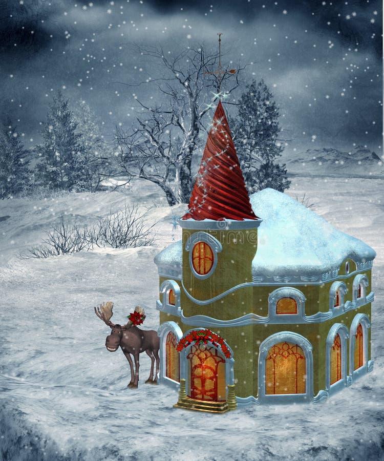22 scenerii zima ilustracja wektor