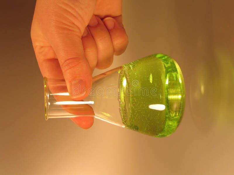 圆锥形烧瓶绿色iii 库存图片