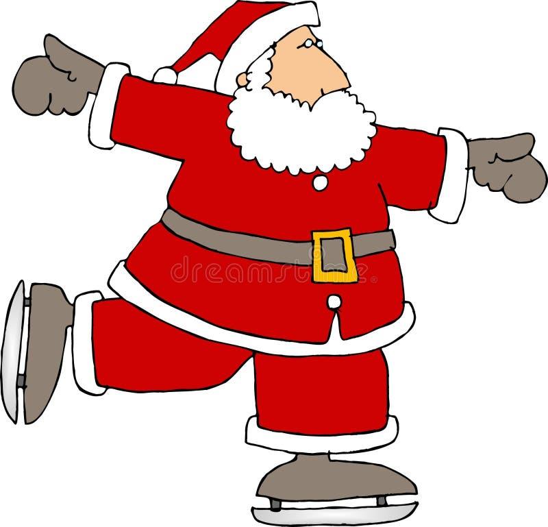 圣诞老人冰鞋 库存例证