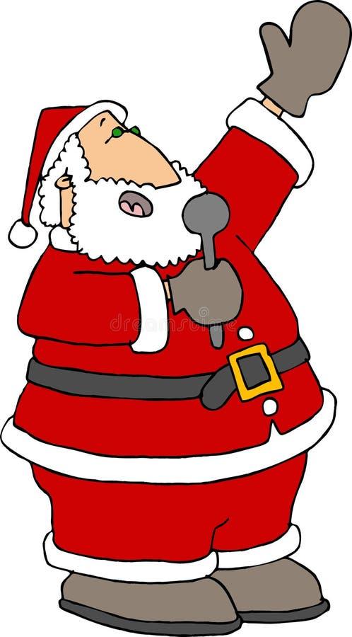 圣诞老人唱歌 库存例证