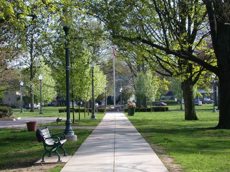 城市公园路 免版税图库摄影