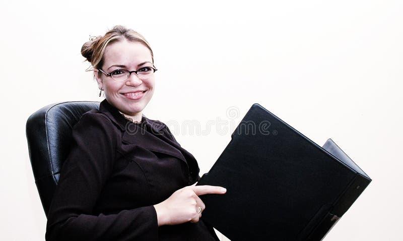 女实业家微笑 免版税图库摄影