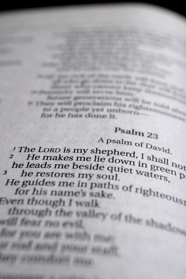 23ème Étude de bible de psaume photo stock
