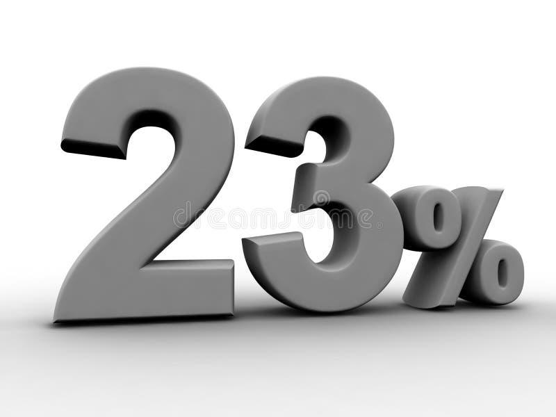 23 por cento ilustração stock
