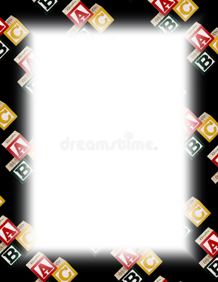 字母表块框架白色 向量例证
