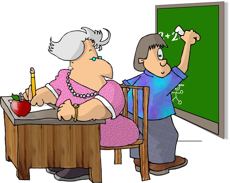 实习教师 向量例证