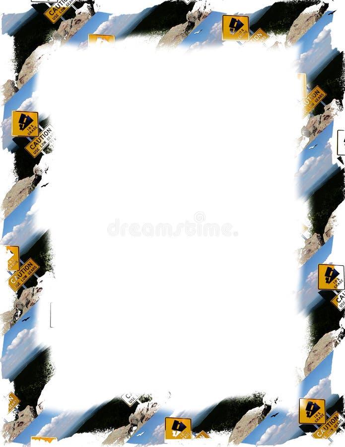 小心框架符号白色 皇族释放例证