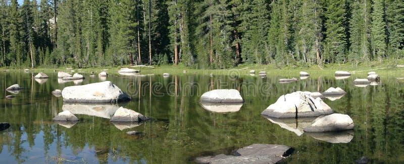 小的湖 库存图片