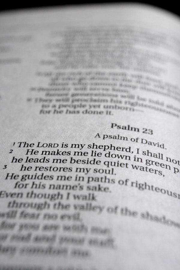 23rd изучение псалма библии стоковое фото