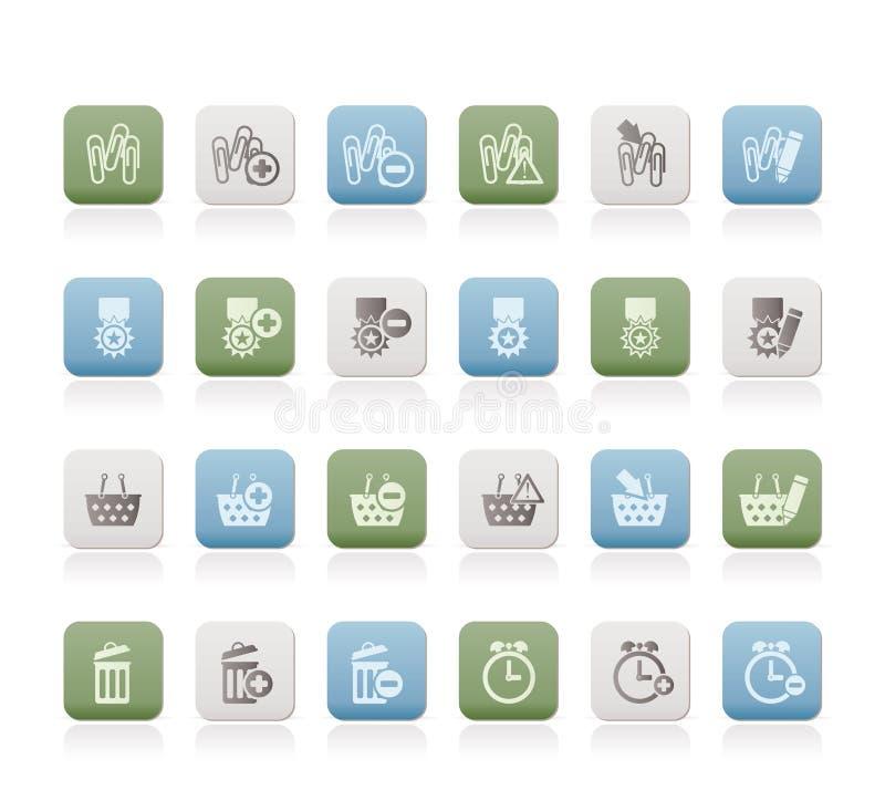 24个企业图标办公室网站 库存例证