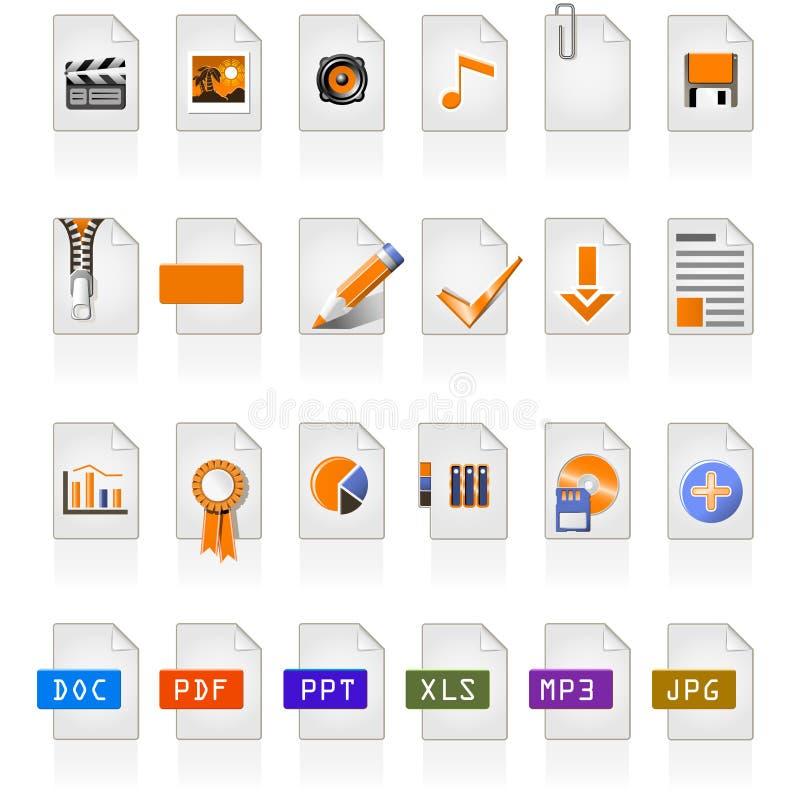 24 ícones do arquivo