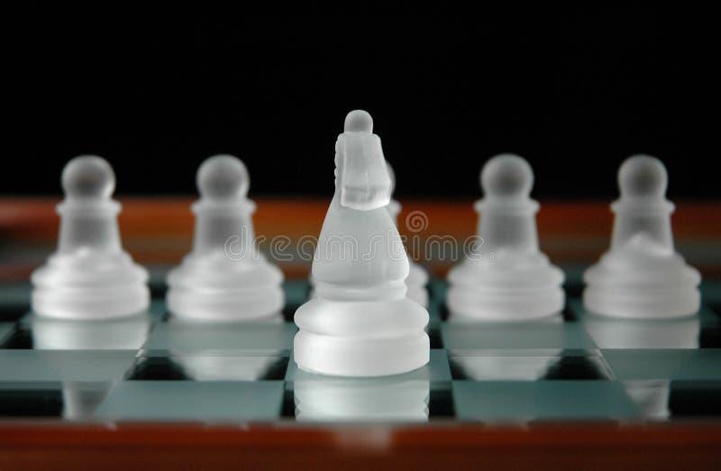 Download 24 κομμάτια σκακιού στοκ εικόνα. εικόνα από άσπρος, σκάκι - 91167