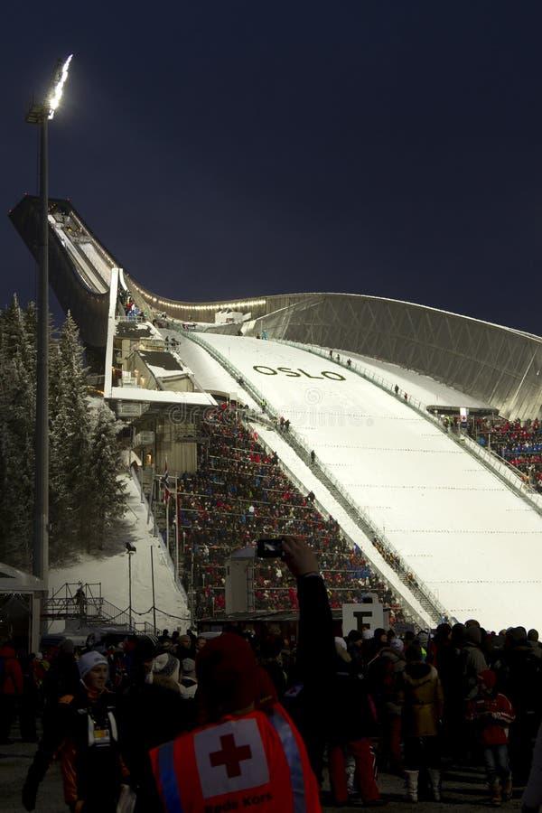 24 мира лыжи Норвегии Осло fis c февраля нордических стоковое фото rf