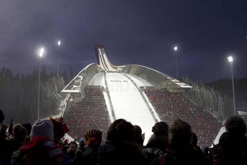 24 мира лыжи Норвегии Осло fis c февраля нордических стоковая фотография rf