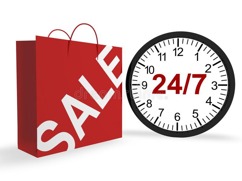 Download 24/7 Shopping Concept stock illustration. Illustration of concepts - 17146110