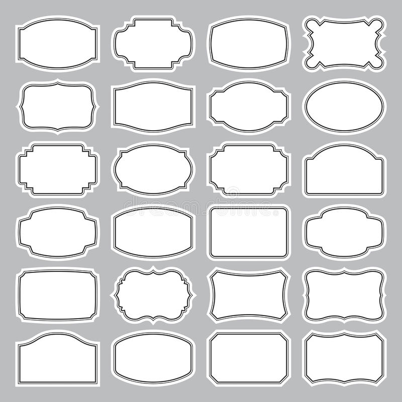 Free 24 Blank Labels Set (vector) Royalty Free Stock Photos - 18801748