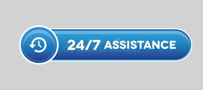 24 botones de la ayuda de la hora stock de ilustración