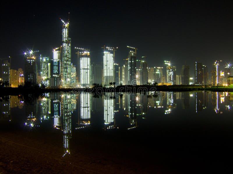 24 budowy Dubaju godziny fotografia royalty free