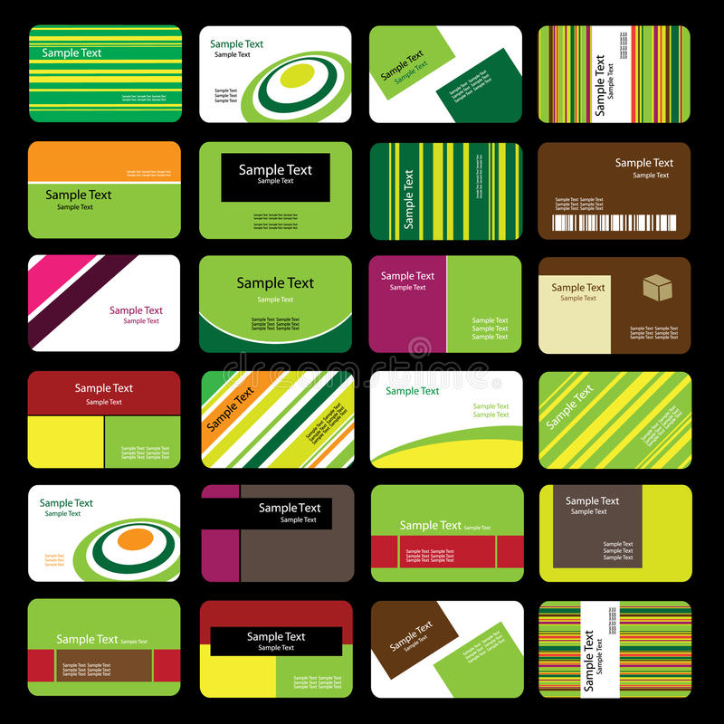 24 Colorful Business Cards stock vector. Illustration of visual ...