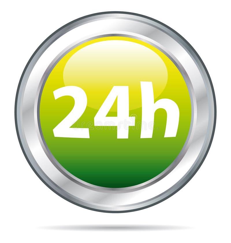 24 horas de icono de la salida stock de ilustración
