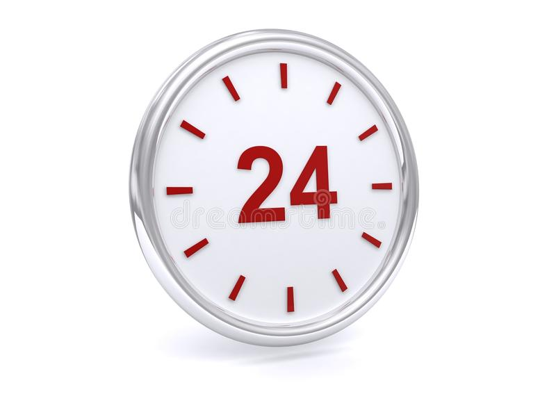 24 hour clock royalty free stock photos