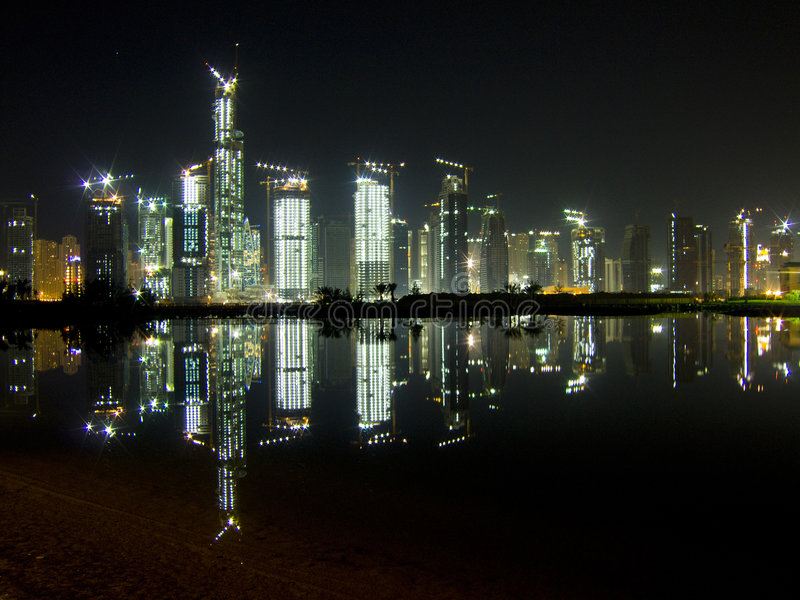 Download 24 Hour Construction In Dubai Stock Image - Image: 3500127