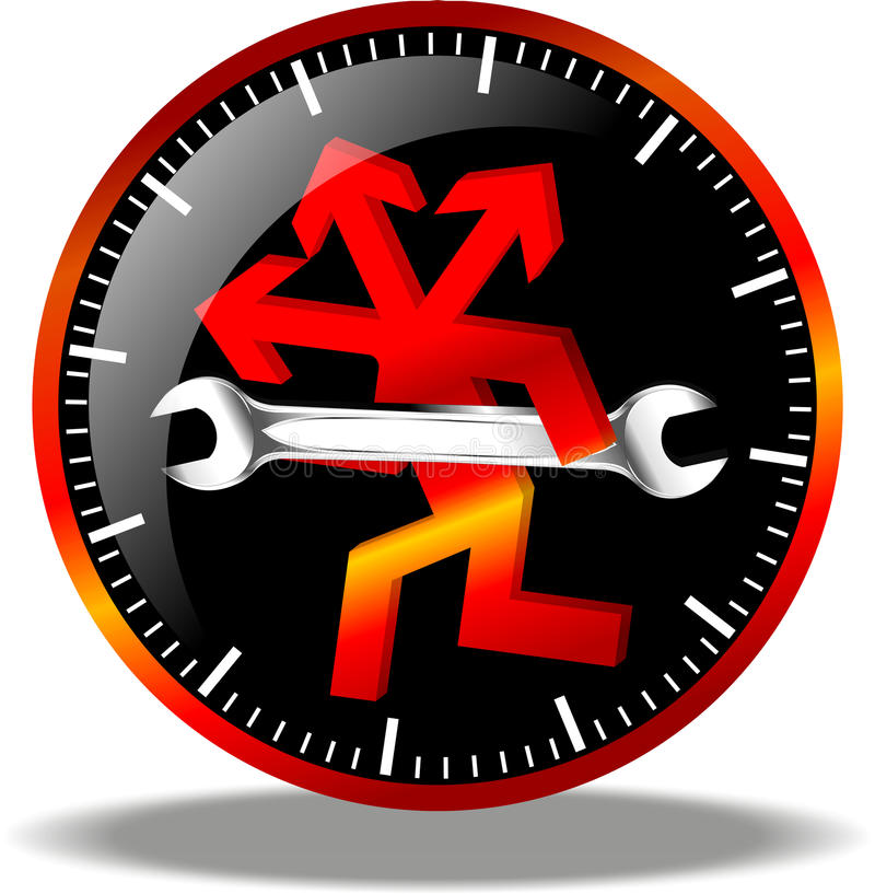Download 24 Hour Maintenance Logo Royalty Free Stock Photo - Image: 19449965