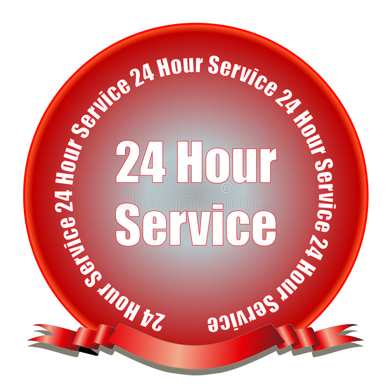 Download 24 Hour Service Seal Stock Photos - Image: 7795223
