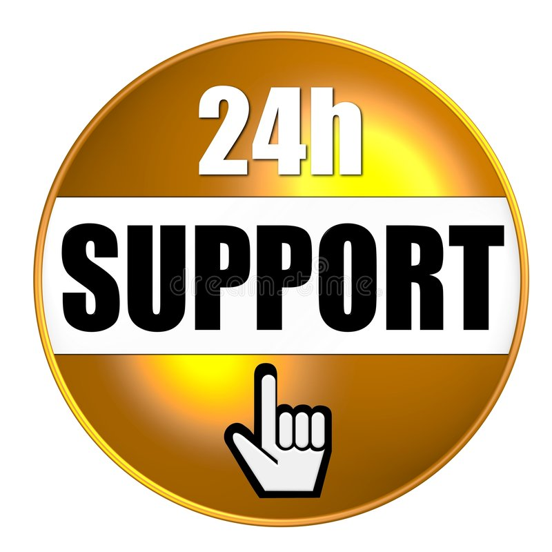 Download 24-hour support graphic stock illustration. Image of helpful - 6710718