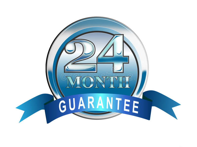 24 month guarantee icon