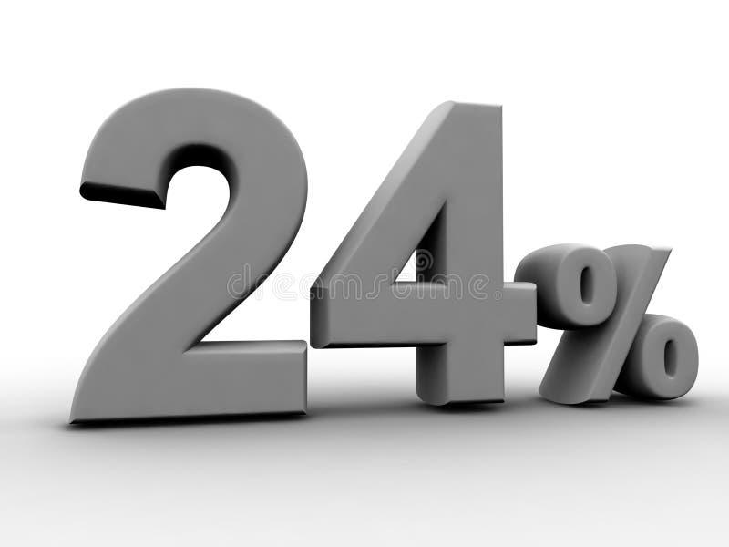 24 per cento illustrazione vettoriale