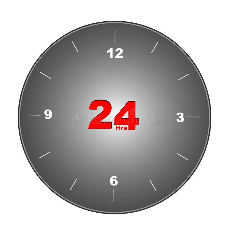 24 relojes stock de ilustración