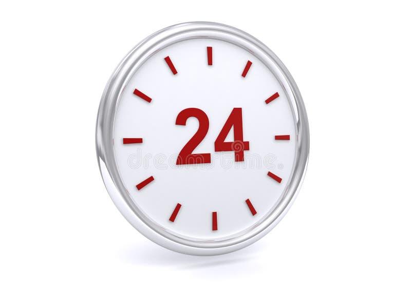 24 relojes de la hora fotos de archivo libres de regalías
