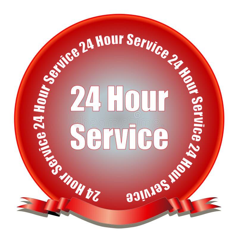 24 selos do serviço da hora ilustração do vetor