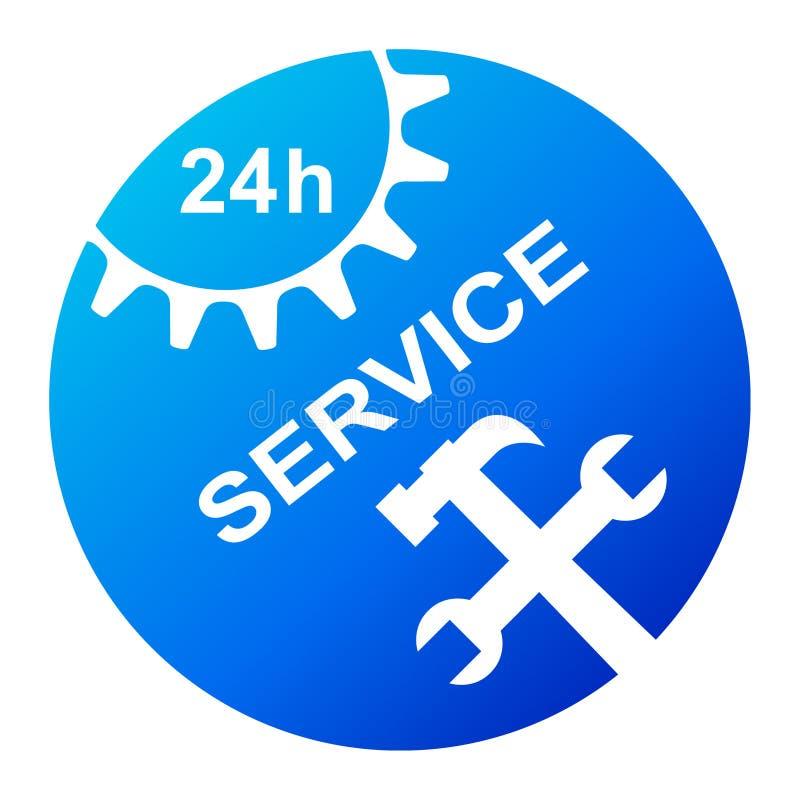 24 servicios de la hora ilustración del vector