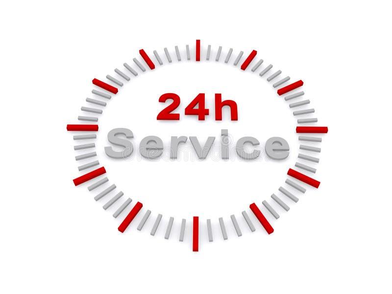24 sinais do serviço da hora ilustração stock