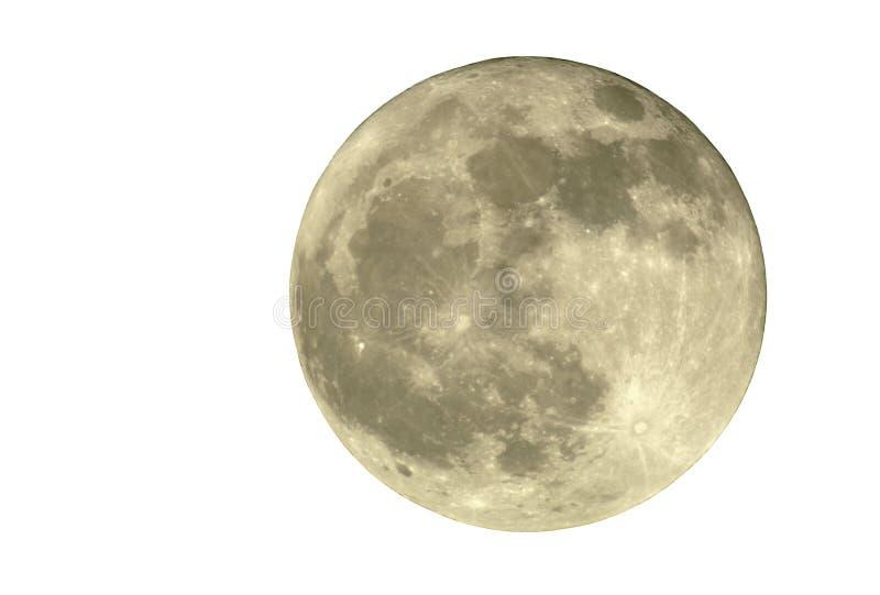 2400mm full isolerad moon arkivfoto