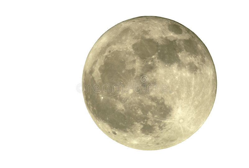 2400mm Geïsoleerdel Volle maan, stock foto